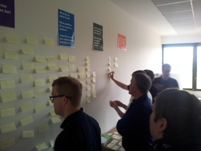 Using the KJ Method to prioritise design principles